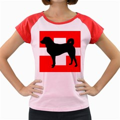 Appenzeller Sennenhund Silo Switzerland Flag Women s Cap Sleeve T-Shirt