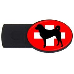 Appenzeller Sennenhund Silo Switzerland Flag USB Flash Drive Oval (1 GB)