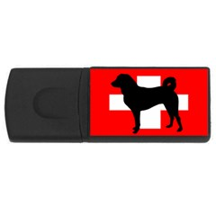 Appenzeller Sennenhund Silo Switzerland Flag USB Flash Drive Rectangular (1 GB)