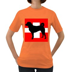 Appenzeller Sennenhund Silo Switzerland Flag Women s Dark T-Shirt