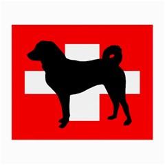 Appenzeller Sennenhund Silo Switzerland Flag Small Glasses Cloth