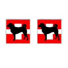 Appenzeller Sennenhund Silo Switzerland Flag Cufflinks (Square)