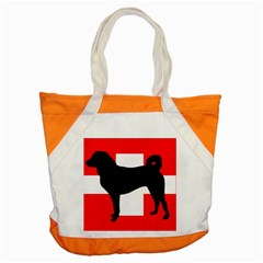 Appenzeller Sennenhund Silo Switzerland Flag Accent Tote Bag