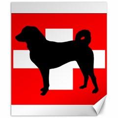 Appenzeller Sennenhund Silo Switzerland Flag Canvas 8  x 10