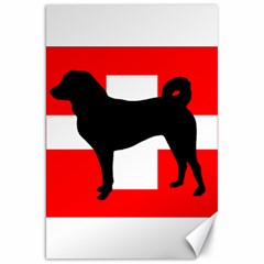 Appenzeller Sennenhund Silo Switzerland Flag Canvas 20  x 30