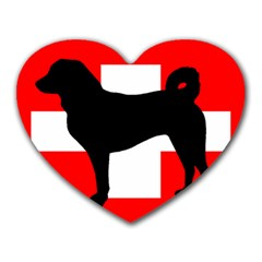 Appenzeller Sennenhund Silo Switzerland Flag Heart Mousepads