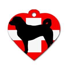 Appenzeller Sennenhund Silo Switzerland Flag Dog Tag Heart (One Side)