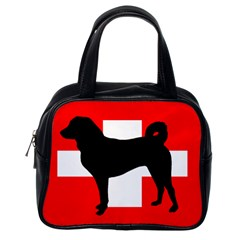 Appenzeller Sennenhund Silo Switzerland Flag Classic Handbags (One Side)