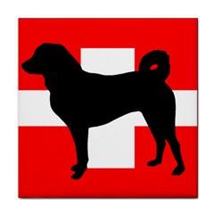 Appenzeller Sennenhund Silo Switzerland Flag Face Towel