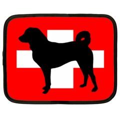 Appenzeller Sennenhund Silo Switzerland Flag Netbook Case (XXL)