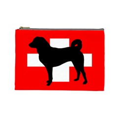Appenzeller Sennenhund Silo Switzerland Flag Cosmetic Bag (Large)