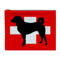 Appenzeller Sennenhund Silo Switzerland Flag Cosmetic Bag (XL)