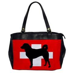 Appenzeller Sennenhund Silo Switzerland Flag Office Handbags