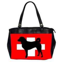 Appenzeller Sennenhund Silo Switzerland Flag Office Handbags (2 Sides)