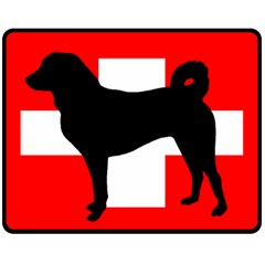 Appenzeller Sennenhund Silo Switzerland Flag Fleece Blanket (Medium)