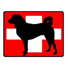 Appenzeller Sennenhund Silo Switzerland Flag Fleece Blanket (Small)