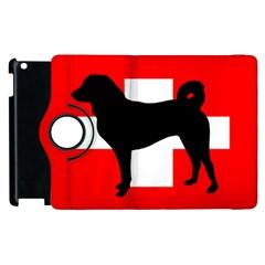 Appenzeller Sennenhund Silo Switzerland Flag Apple iPad 3/4 Flip 360 Case