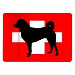 Appenzeller Sennenhund Silo Switzerland Flag Samsung Galaxy Tab 10.1  P7500 Flip Case