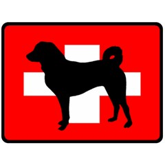 Appenzeller Sennenhund Silo Switzerland Flag Double Sided Fleece Blanket (Large)