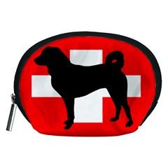 Appenzeller Sennenhund Silo Switzerland Flag Accessory Pouches (Medium)