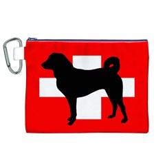 Appenzeller Sennenhund Silo Switzerland Flag Canvas Cosmetic Bag (XL)