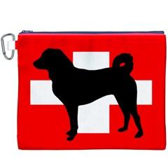 Appenzeller Sennenhund Silo Switzerland Flag Canvas Cosmetic Bag (XXXL)