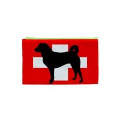 Appenzeller Sennenhund Silo Switzerland Flag Cosmetic Bag (XS)