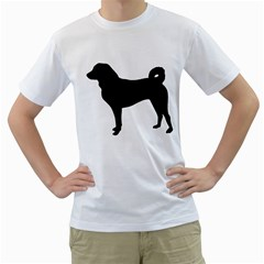 Appenzeller Sennenhund Silo Men s T-Shirt (White) (Two Sided)