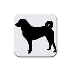 Appenzeller Sennenhund Silo Rubber Coaster (Square)