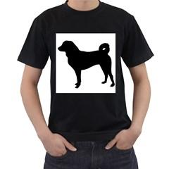 Appenzeller Sennenhund Silo Men s T-Shirt (Black) (Two Sided)