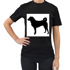 Appenzeller Sennenhund Silo Women s T-Shirt (Black) (Two Sided)