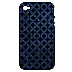 CIR3 BK-MRBL BL-STONE Apple iPhone 4/4S Hardshell Case (PC+Silicone)