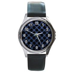 CIR2 BK-MRBL BL-STONE (R) Round Metal Watch
