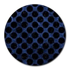 CIR2 BK-MRBL BL-STONE (R) Round Mousepads