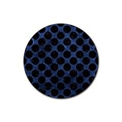 CIR2 BK-MRBL BL-STONE (R) Rubber Coaster (Round)