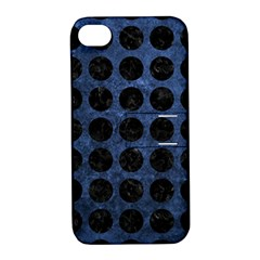 CIR1 BK-MRBL BL-STONE (R) Apple iPhone 4/4S Hardshell Case with Stand