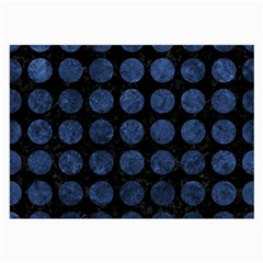 Circles1 Black Marble & Blue Stone Large Glasses Cloth (2 Sides)