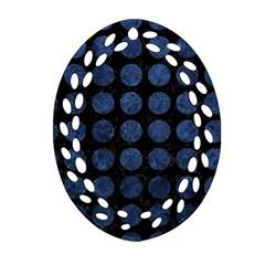 CIR1 BK-MRBL BL-STONE Ornament (Oval Filigree)