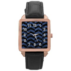 CHV2 BK-MRBL BL-STONE Rose Gold Leather Watch