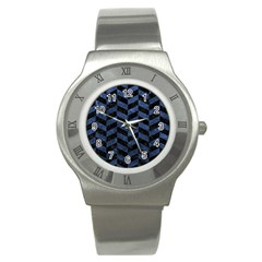 CHV1 BK-MRBL BL-STONE Stainless Steel Watch