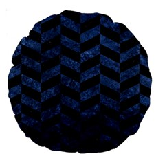 CHV1 BK-MRBL BL-STONE Large 18  Premium Round Cushions
