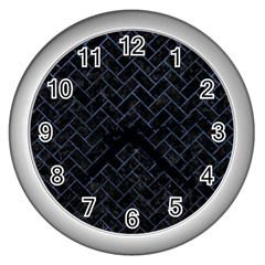 BRK2 BK-MRBL BL-STONE Wall Clocks (Silver)