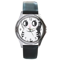 Meow Round Metal Watch