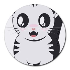 Meow Round Mousepads