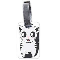 Meow Luggage Tags (One Side)