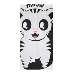 Meow Shower Curtain 36  x 72  (Stall)