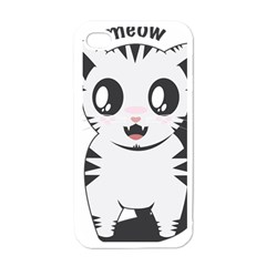 Meow Apple iPhone 4 Case (White)