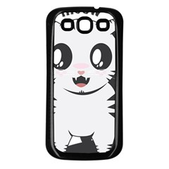 Meow Samsung Galaxy S3 Back Case (Black)