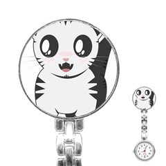 Meow Stainless Steel Nurses Watch