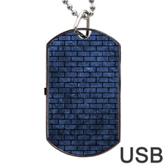 BRK1 BK-MRBL BL-STONE (R) Dog Tag USB Flash (One Side)
